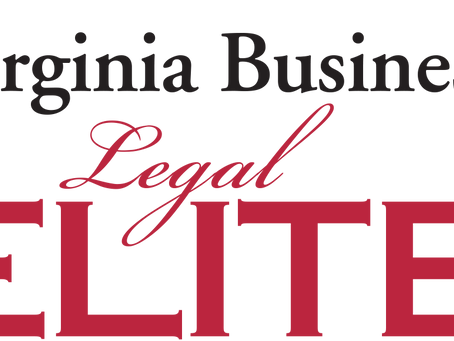 Virginia Business Magazine - 2019 Legal Elite for Appellate Law