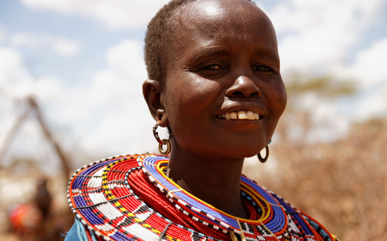 Kenya Smiling Maasai Woman