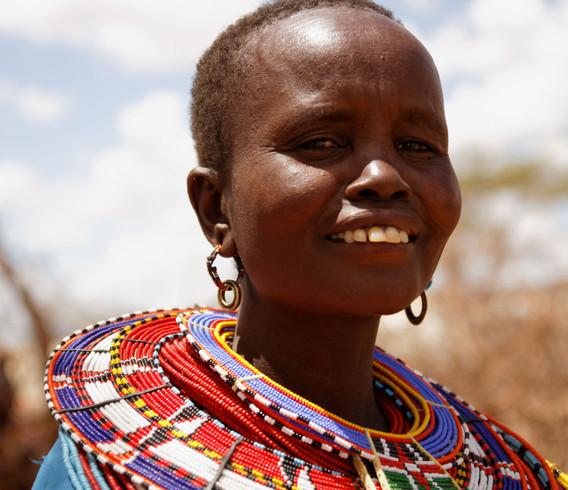 Kenya Smiling Maasai Woman