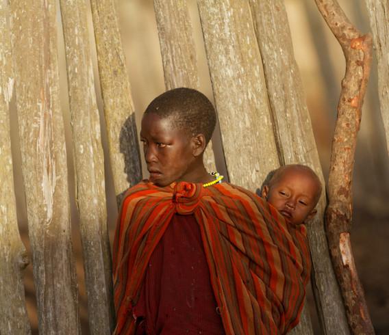 Tanzania Boy carrying Boy