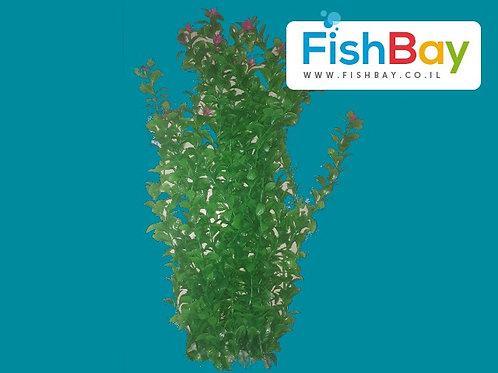 צמח פלסטיק עם פרחים ורודים לאקווריום
