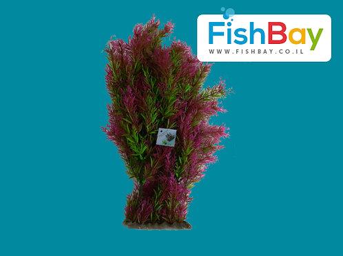 צמח מלאכותי לאקווריום גדול אדום