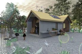 Cemex casa rural mínima para la producción en masa