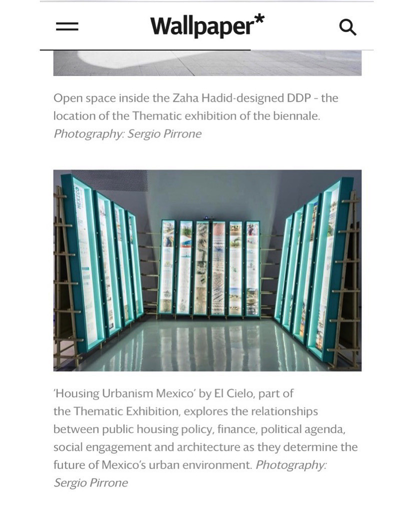 El Cielo's exhibition Housing Urbanism Mexico at the Seoul Biennale of Architecture and Urbanism SBAU 2019