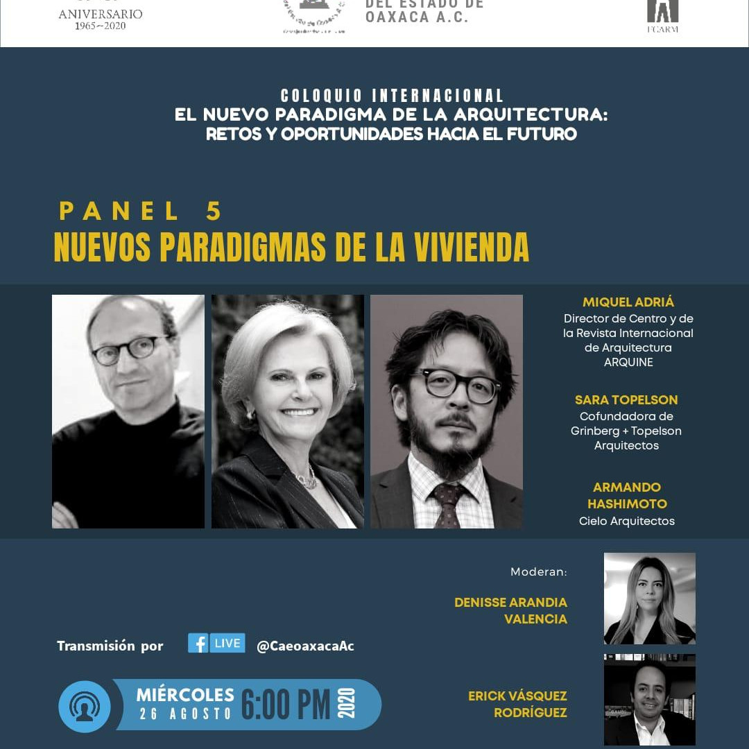 Join us this Wednesday at 6pm! Thank to the Architecture College of Oaxaca City!