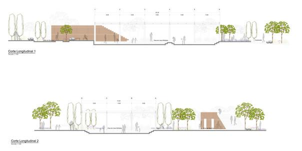Cortes arquitectónicos de conjunto
