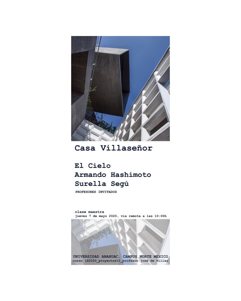 We had the opportunity to revisit our design process for Casa Villaseñor. Thank you Jose de Villar for the invitation!