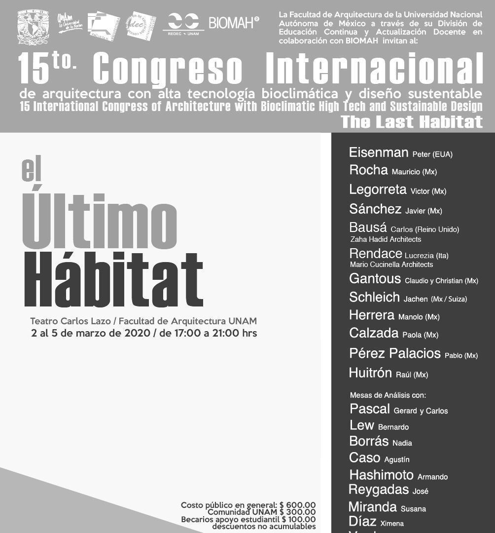 Armando Hashimoto presente en la Mesas de Análisis en la edición 2020 del Congreso Internacional de Arquitectura y Sustentabilidad (Congreso Internacional de Arquitectura con Alta Tecnología Bioclimática y Diseño Sustentable)