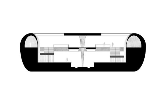 Sección transversal C-C'