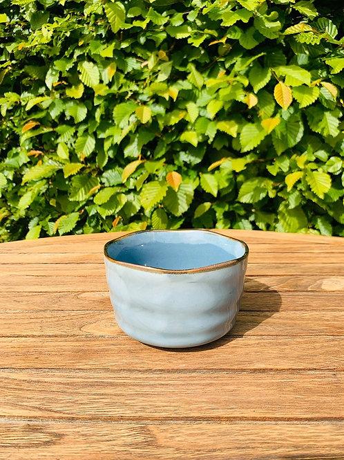 Matcha kom of chawan appelblauw zeegroen