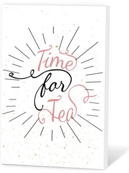 Wenskaart Time for tea