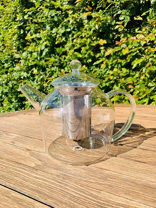 Theepot glas met inoxfilter 1.2 liter