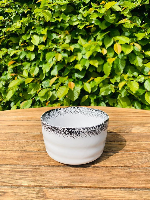 Matcha kom of chawan white & black