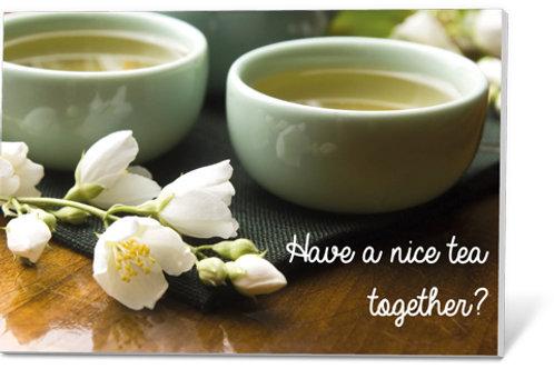Wenskaart Have a nice tea together?