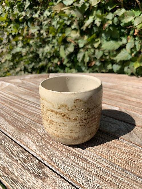Theekopje handmade beige
