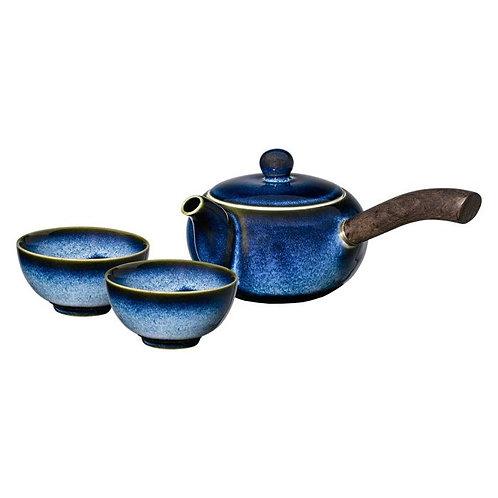 Japans theesetje Blue in geschenkdoos