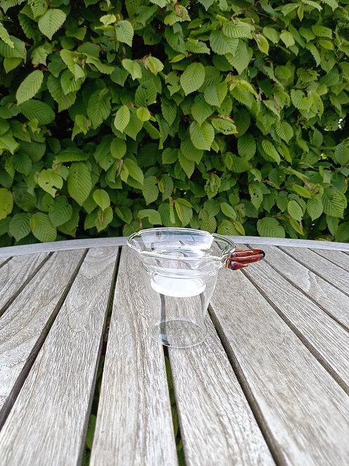 Fijn glazen theefilter met houder