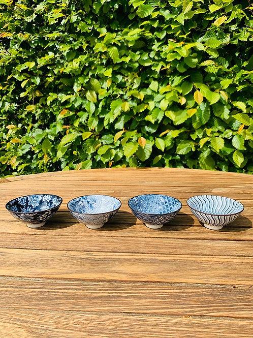 Teacups Japans blue set van 4 stuks