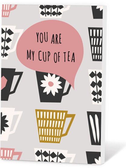 Wenskaart You are my cup of tea