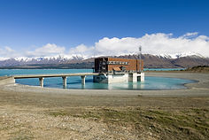 The Tekapo B hydro power station on Lake