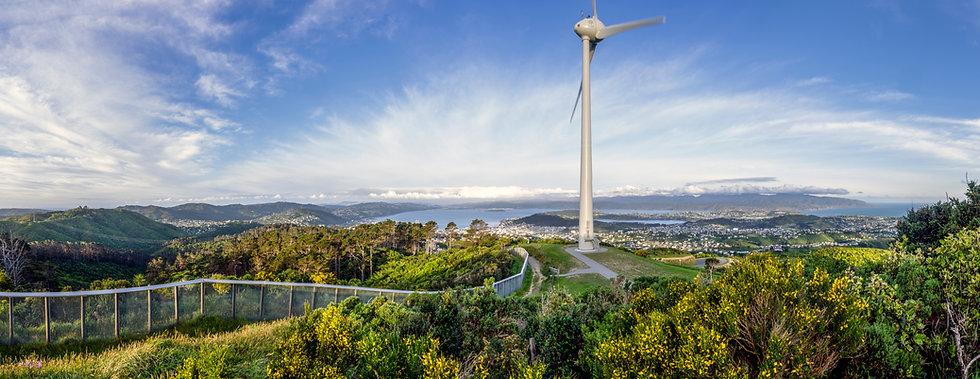 Brooklyn wind turbine in Wellington, New
