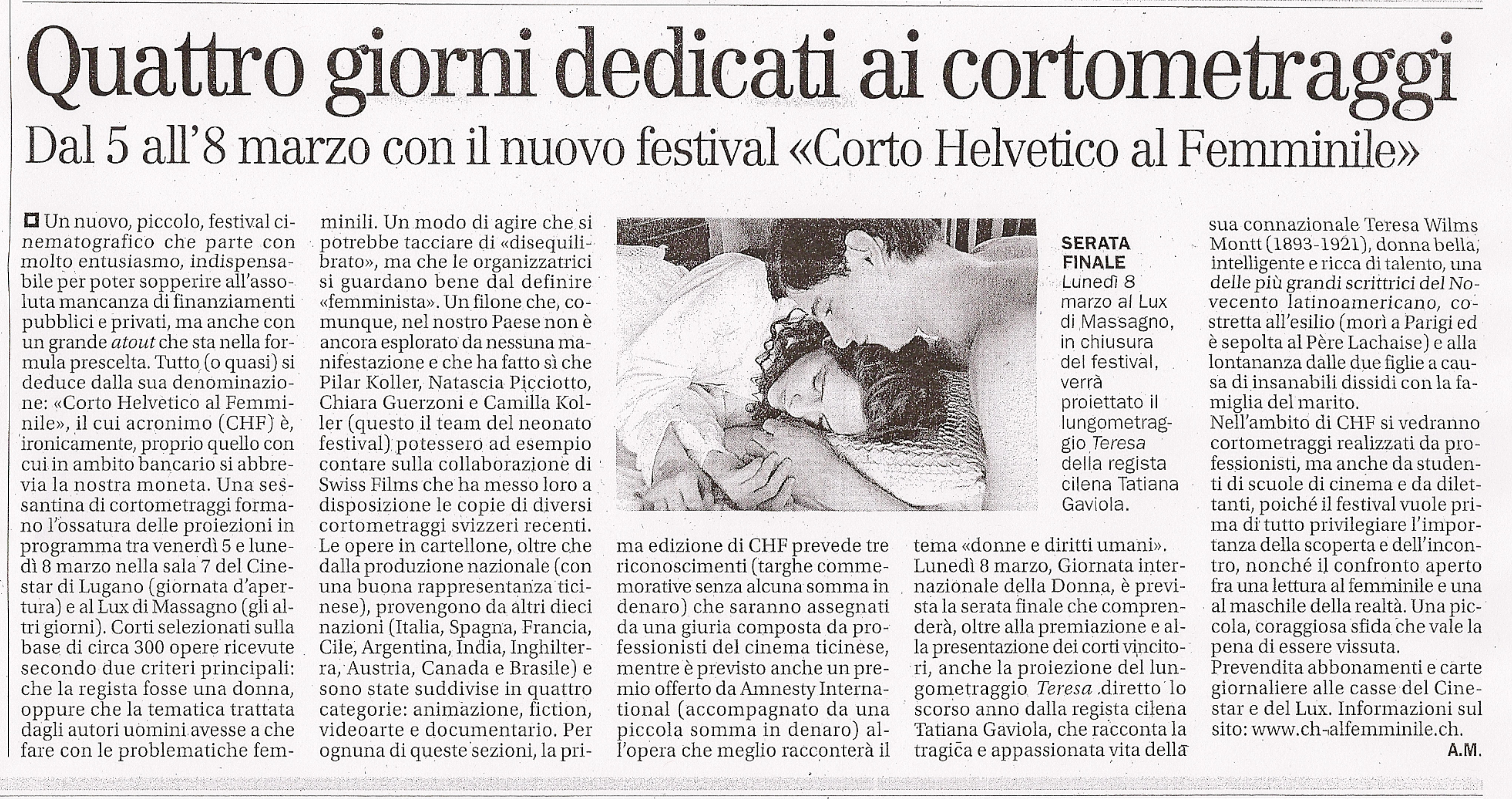 Il Corriere del Ticino