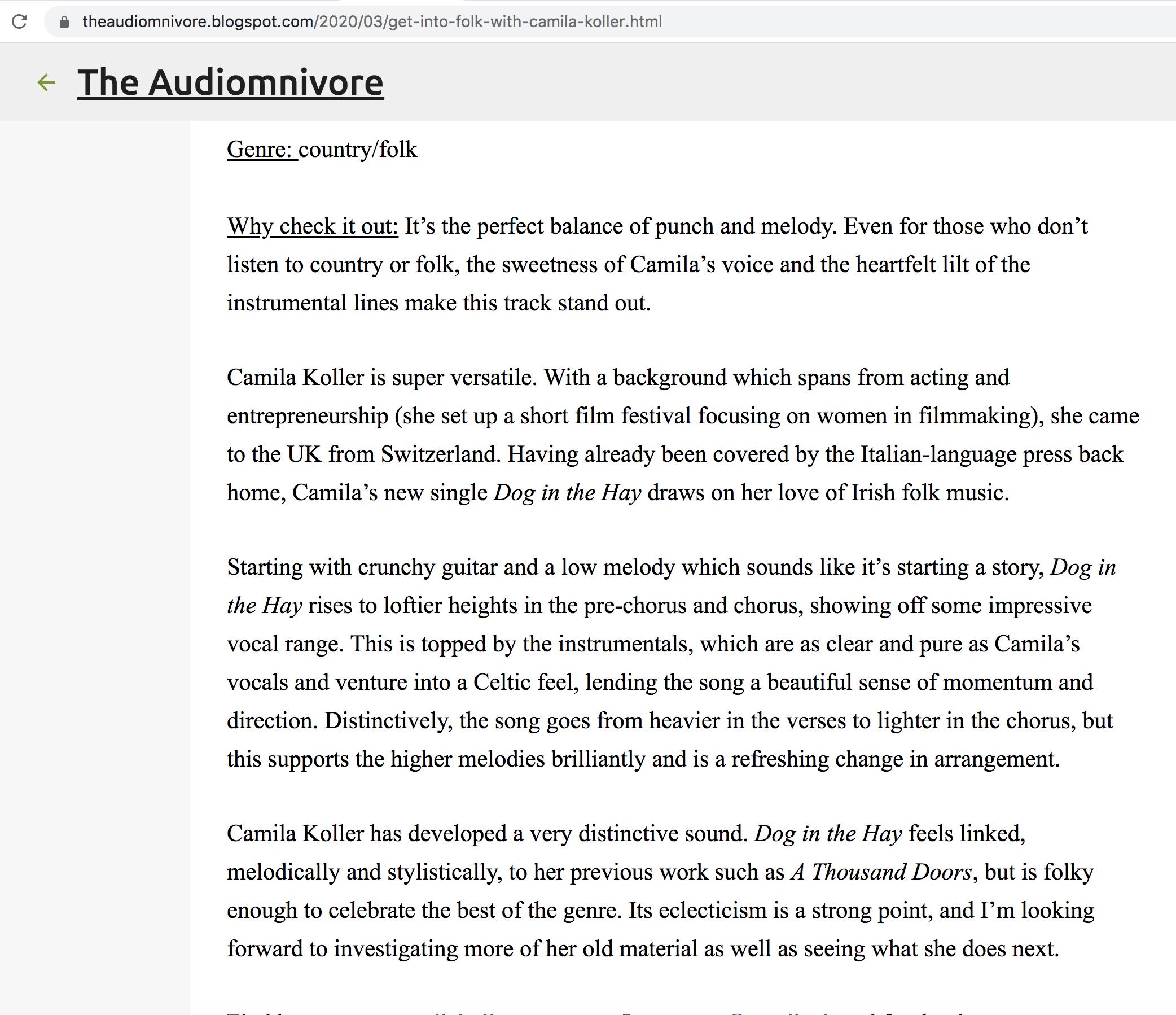 The Audiomnivore