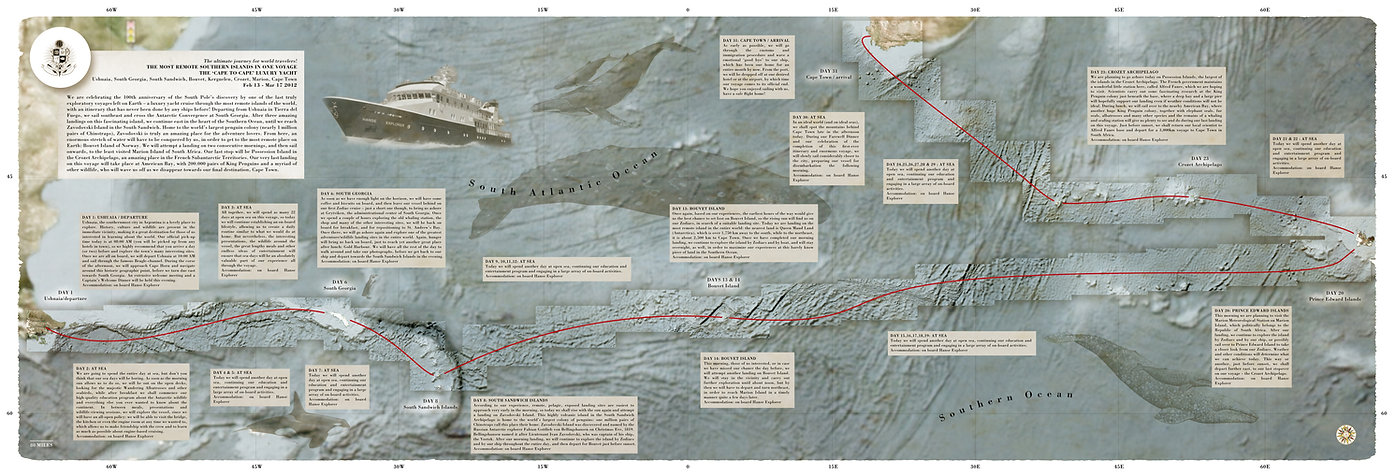 map to Bouvet Island for The Expedition for the Future