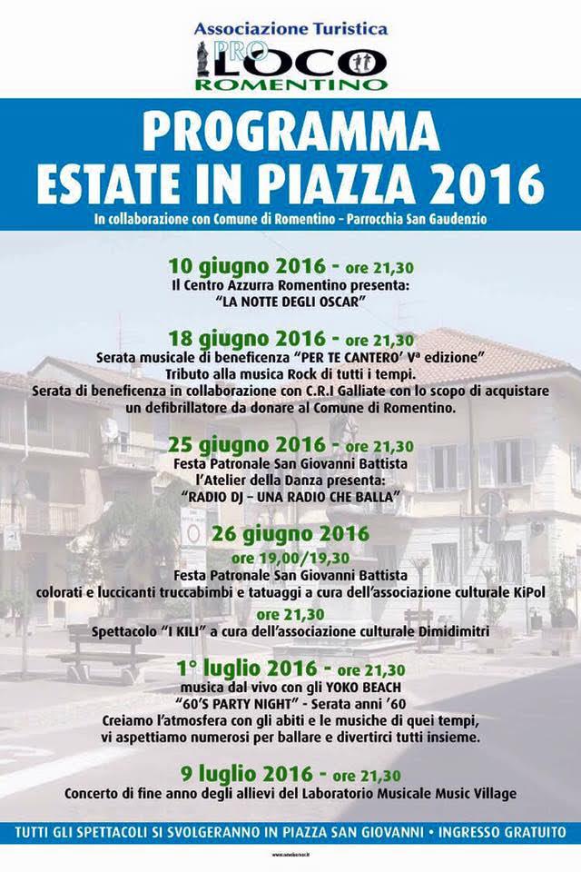 Estate in Piazza 2016