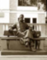Памятник А.П.Чехову в Звенигороде. Скульптор Владимир Курочкин. сайт скульптора: vladkurochkin.ru