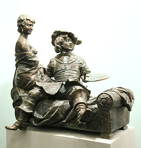Счастливый Рембрант.Скульптор Владимир Курочкин