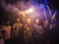 friends celebrate Mehmet's conscription