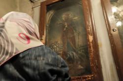 A Muslim woman at Vefa Church