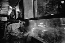 A late night bus in Tehran