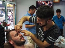 Mehmet at barbershop