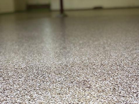Garage Concrete Floor Decorative Flake Coating   Central Illinois