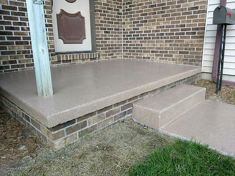 Front Porch Step Decorative Flake Coating   Central Illinois