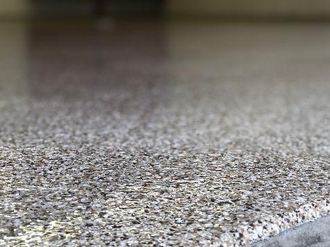Close-up Garage Floor Decorative Flake Coating   Central Illinois