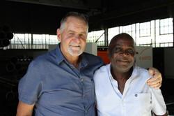Matthew Mayhew Snr and Joseph Ntimane
