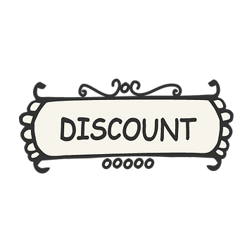 image that says discount