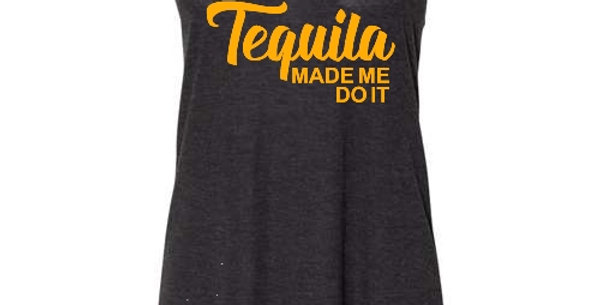 Tequila Made Me Racerback Tank
