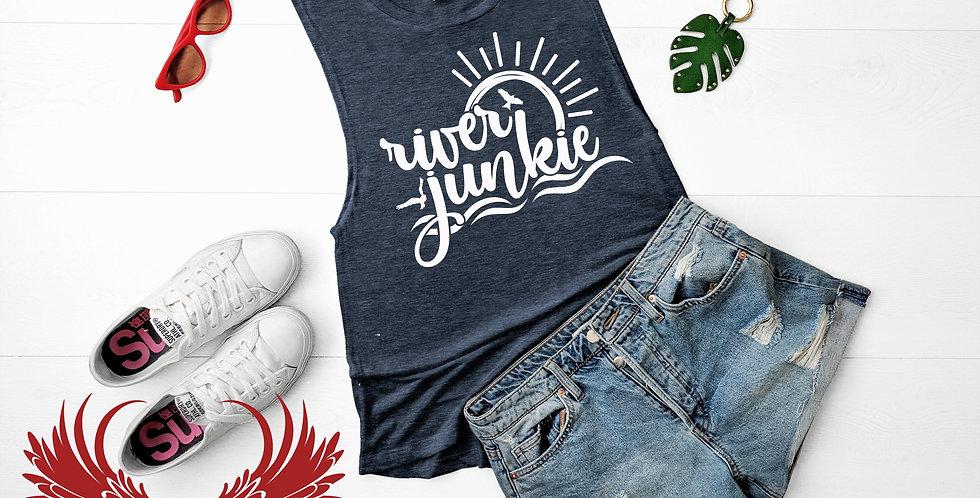 River Junkie Muscle Tee