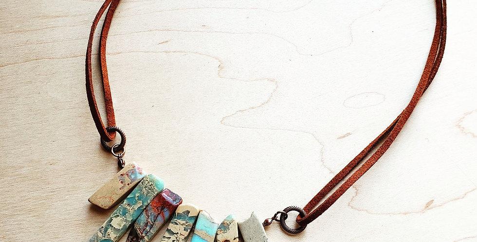 Aqua Terra Leather Cord Necklace