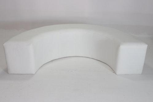 WHITE ARC SOFA LEATHERETTE 1003