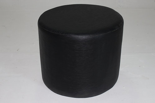 BLACK POUFFE IN LEATHERETTE 1011