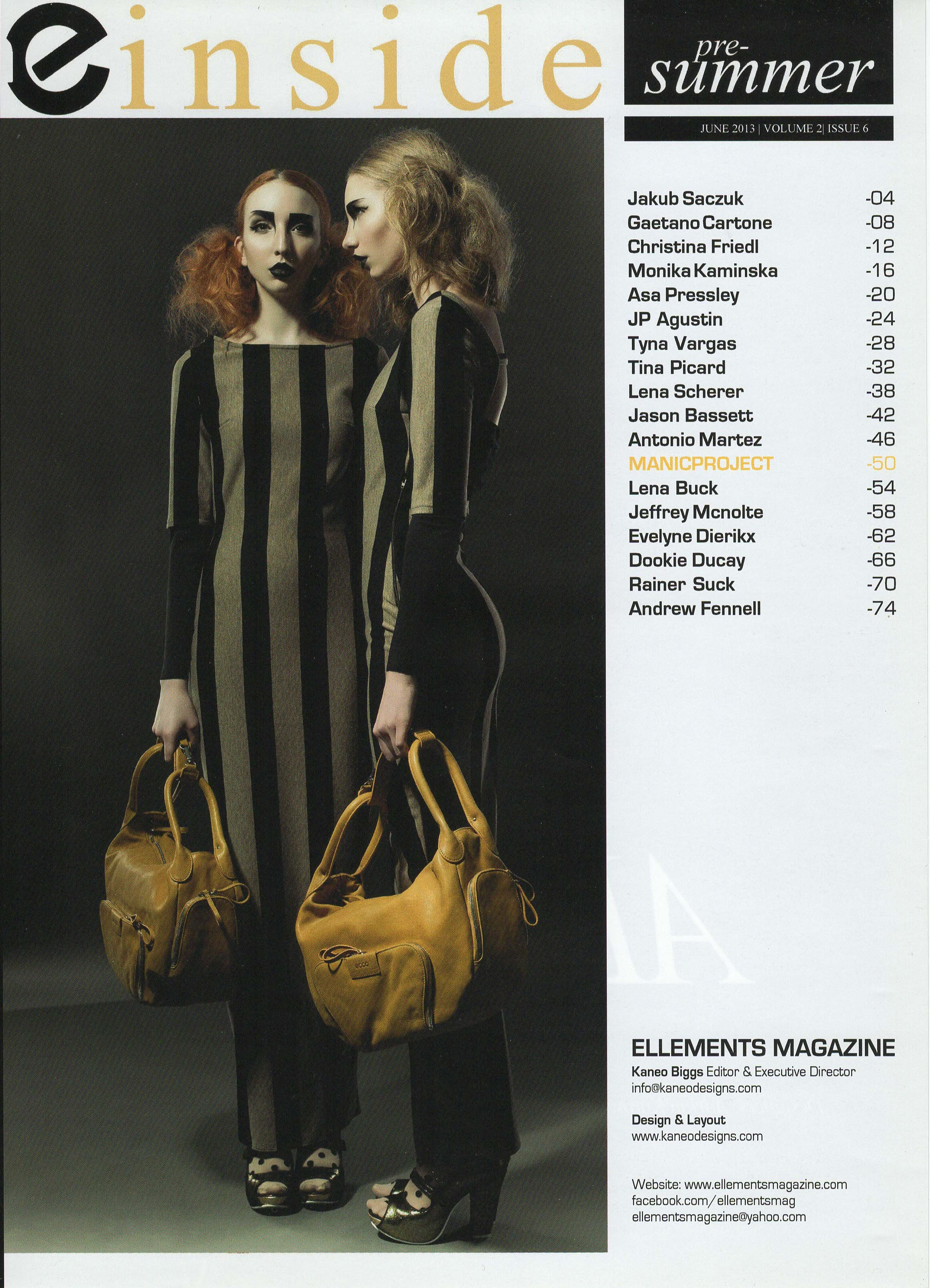 Twins Printed in Ellements Magazine
