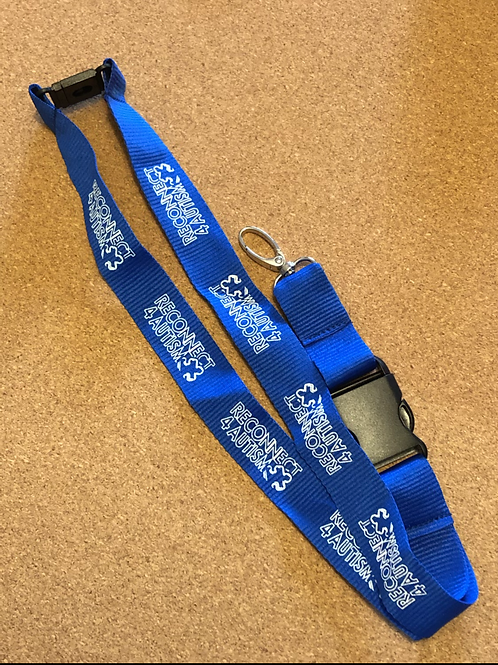 Reconnect 4 Autism Blue Lanyard