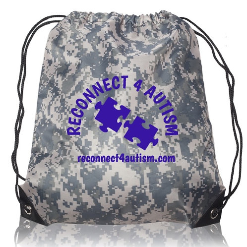 Reconnect 4 Autism Camo Drawstring Bag