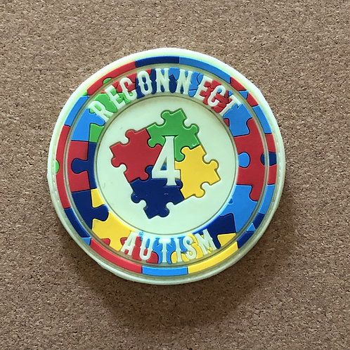 Reconnect 4 Autism White Glow Patch