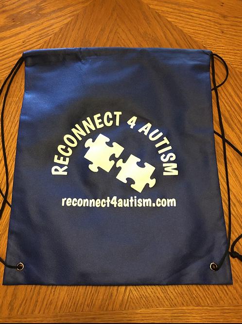 Reconnect 4 Autism Blue Drawstring Bag